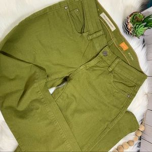 Anthropology Pilcro Olive Jeans/ fit Stet